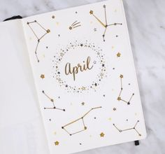 An April cover page for bullet journaling.