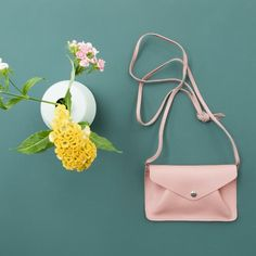 Keecie small leather pink bag.  Backing Vocals in Soft Pink