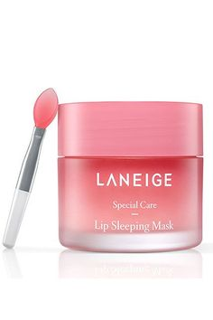 LANEIGE LIP SLEEPING MASK - Sometimes applying lip balm just isn't enough and no matter how much you apply your lips still stay dry and chapped. Enter the Laneige Lip Sleeping Mask, made with Moisture Wrap™, which forms a moisturizing protective fil. Korean Makeup, Korean Skincare, Korean Beauty, Korean Lips, Peach And Lily, Sleeping Pack, Lip Sleeping Mask, Lip Mask, Facial Masks