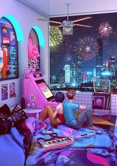 Cyberpunk Aesthetic, Cyberpunk City, Arte Cyberpunk, Neon Aesthetic, Night Aesthetic, Cyberpunk Games, New Retro Wave, Retro Waves, Retro Room