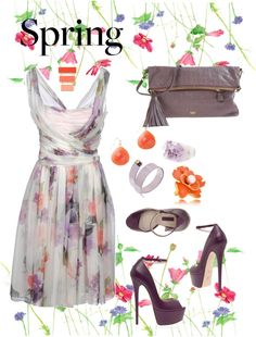 """""""Spring Dress Contest"""" by damjanam ❤ liked on Polyvore"""