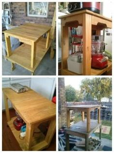 Pallet Tables and Work bench