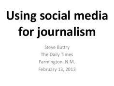 Using social media for journalism