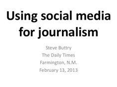 Using social media for journalism