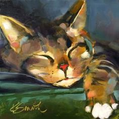 I painted my cat Oliver for one of the Daily Paintworks challenges. To live the life of a cat. Nap, play, eat, repeat. Heaven! This painting is SOLD. SUBSCRIBE! You have Successfully Subscribed!