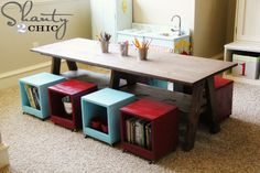Not only do these cubes make cute rolling stools, they can also save you some serious space if you use them as storage for books and toys. Get the tutorial at Shanty 2 Chic.