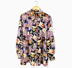 Long sleeve vintage nautical theme shirt 90's by FannyAdamsVC, $35.00