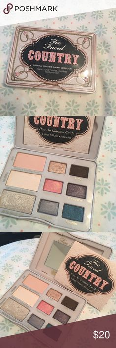 Too Faced COUNTRY Nashville Nudes Eyeshadow Swatched only! Practically new condition. Too Faced Makeup Eyeshadow