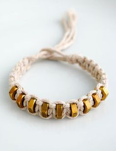 Hexnut bracelet, could do with beads too?