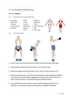 3. Two Handed Kettlebell Swing Skill Level: Beginner 3.1. Main Muscle Groups…