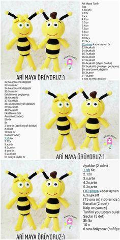Amigurumi Bee (Arı Maya) Free Crochet Paattern