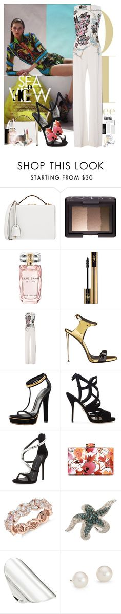 """""""Where do I go?"""" by eleonoragocevska ❤ liked on Polyvore featuring Mark Cross, NARS Cosmetics, Elie Saab, Yves Saint Laurent, Chanel, Sergio Rossi, Giuseppe Zanotti, Gucci, Paul Andrew and Monique Lhuillier"""