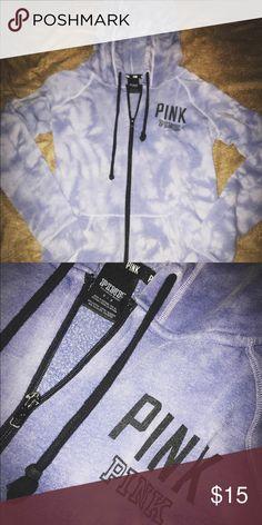 Victoria's Secret zip up hoodie Victoria's Secret purplish-blue tie dye zip up hoodie. Victoria's Secret Sweaters