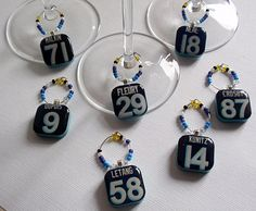 Pittsburgh Penguins Wine Charm Set - Blue. $35.00, via Etsy.