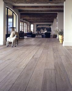 White oak flooring bleached