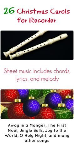 Christmas sheet music for recorder with chords, lyrics, and melody. 26 songs including Jingle Bells, Silent Night, and any others. Browse the music at http://recorderstreet.com/category/christmas/