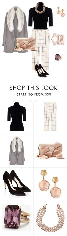 """Gray"" by tsurumi-mai on Polyvore featuring ファッション, Theory, MANGO, River Island, Oscar de la Renta, Monsoon, Pasquale Bruni, Ann Taylor, Chanel と A.X.N.Y."