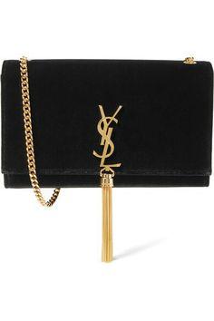 SAINT LAURENT  Monogramme Kate velvet shoulder bag