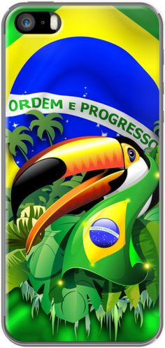 #Toco #Toucan with #Brazil #Flag By #BluedarkArt for Apple #iPhone 5/5s - on #The_Kase