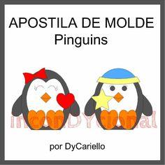 >> Apostila digital com molde dos Pinguins [conforme imagem] para ser feito em tecido/feltro.  >> Com PAP.  >> A apostila tem 9,65mb, formato PDF, 40 páginas. Em dois tamanhos: 15 e 30cm! https://www.facebook.com/inconDYcional/photos/a.811942578856722.1073741827.187805041270482/867038840013762/?type=3&theater