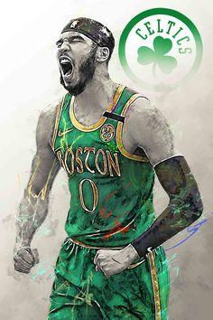 Celtics Basketball, Basketball Posters, Basketball Art, Lebron James Wallpapers, Sports Wallpapers, Boston Celtics Wallpaper, Michael Jordan Pictures, Best Nba Players, Black Cartoon Characters