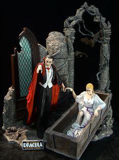 Gorgeous Janus models Dracula and Bride set Monster Toys, Monster Art, Gothic Horror, Horror Art, Real Horror, Horror Action Figures, Gi Joe, Classic Horror Movies, Famous Monsters