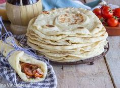 Tortilla pane messicano facile Mexican Food Recipes, Italian Recipes, Vegan Recipes, Ethnic Recipes, Dinner Recipes, Italian Street Food, Cracker, Antipasto, Snacks