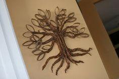 Tutorials: Paper Roll Twisted Oak Tree