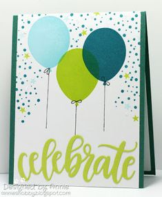 Altenew: Birthday Greetings, Winnie & Walter: Big Bang Confetti,  Celebrate die: MFT, balloons,  Pawsitive Thoughts by Annie
