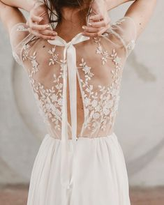 Wonderful Perfect Wedding Dress For The Bride Ideas. Ineffable Perfect Wedding Dress For The Bride Ideas. Perfect Wedding, Dream Wedding, Wedding Lace, Delicate Wedding Dress, Lace Back Wedding Dress, Summer Wedding, Wedding Bells, Wedding Ceremony, Detailed Wedding Dresses