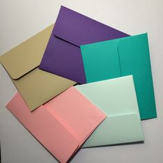 A2 envelopes with cards  any color 10 by GreetingWithLove on Etsy