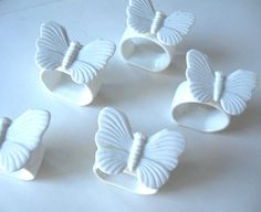 Set of 10 vintage ceramic Butterfly napkin by jewelryandthings2