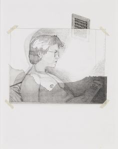 JAIME WELSH Sem Título, 2015 Graphite, acetate and tape on paper, 35 x 28 cm