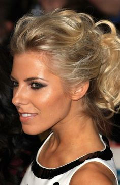 mollie king, wavy updo