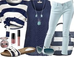 Marine Look http://www.stylefruits.de/outfits