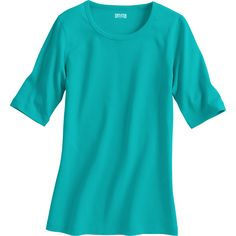 """Women's Longtail T® Elbow Sleeve Scoop Neck Shirt has UPF 35 protection built into the fabric, and it's 2"""" longer than ordinary tees to cover your assets."""