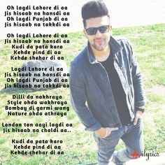 Lahore Lyrics by Guru Randhawa is his most awaited Punjabi song which is also composed and written by him. Its music is given by Vee Music. My Love Song, Me Me Me Song, Love Songs, Song Lyric Quotes, Music Lyrics, Romantic Song Lyrics, Guru Pics, Varun Tej, Ammy Virk