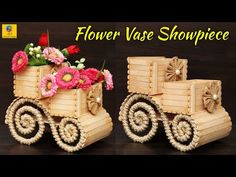 How to Make Flower Vase with Jute Rope and Popsicle Sticks Popsicle Stick Crafts For Adults, Diy Popsicle Stick Crafts, Popsicle Sticks, Craft Sticks, Wooden Clothespin Crafts, Burlap Crafts, Decor Crafts, Ice Cream Stick Craft, Rose Crafts