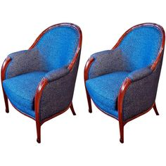 Paul Follot Pair of Club Chairs | From a unique collection of antique and modern club chairs at https://www.1stdibs.com/furniture/seating/club-chairs/