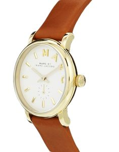 Image 2 ofMarc By Marc Jacobs Baker Mini Brown Leather Strap Watch MBM1317