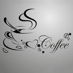 Kitchen Wall Stickers, Wall Stickers Quotes, Bathroom Stickers, Coffee Wine, Coffee Talk, I Love Coffee, My Coffee, Coffee Shop, Coffee Cups