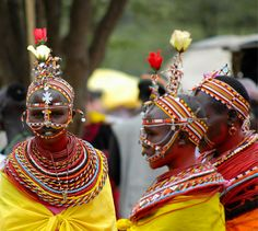 Africa | Samburu girls. Wamba, Kenya | ©Giorgio, via flickr