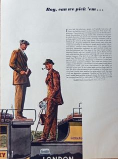 Steeplechase at Long Island  30 s Men s Fashions  print art   men standing on coach