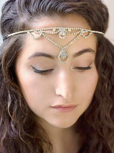 Silver Crystal Rhinestone Headband, Women's Fashion Headbands, Halloween Costume ** To view further for this item, visit the image link.