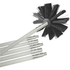 12ft Dryer-Duct Cleaning Kit - DEFLECTO - DVBRUSH12K/6