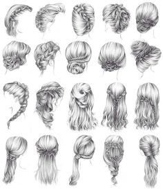 Medieval hair styles for the ladies.