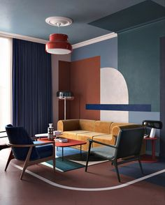color block living room ideas - home interior Decor Interior Design, Modern Interior, Interior Decorating, Decorating Games, Decorating Websites, Decoration Bedroom, Room Decor, Colorful Apartment, Living Room Colors