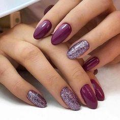 Color purple Trendy Manicure Ideas In Fall Nail Colors;Purple Nails; Trendy Manicure Ideas In Fall Nail Colors;Purple Nails; Fall Gel Nails, Cute Nails For Fall, Short Gel Nails, Fun Nails, Fall Nail Ideas Gel, Autumn Nails, Fall Manicure, Nail Color Trends, Fall Nail Colors