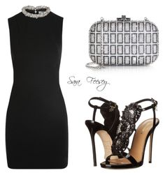 """""""Untitled #117"""" by sara-elizabeth-feesey on Polyvore featuring Victoria Beckham, Judith Leiber and Dsquared2"""