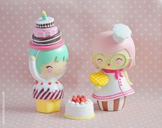 Momiji with waffles. Today Is My Birthday, Girl Birthday, Happy Birthday, Sugar Rush, Momiji Doll, Doll Display, Clothespin Dolls, Anime Dolls, Vinyl Toys